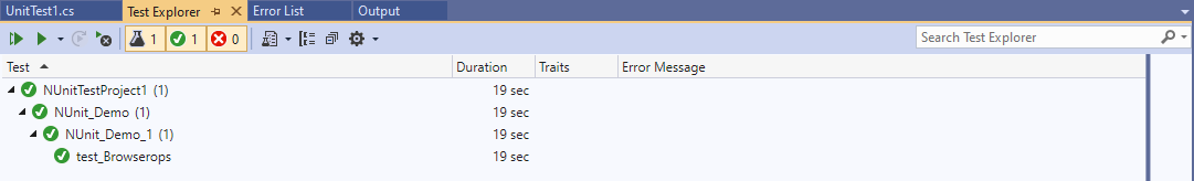 Error List Window