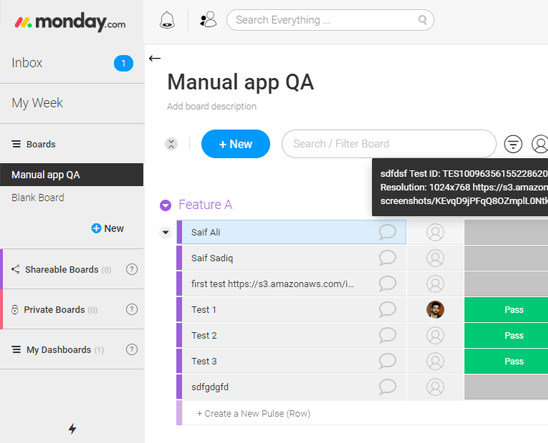 LambdaTest-monday.com integration for eaasy cross browser testing