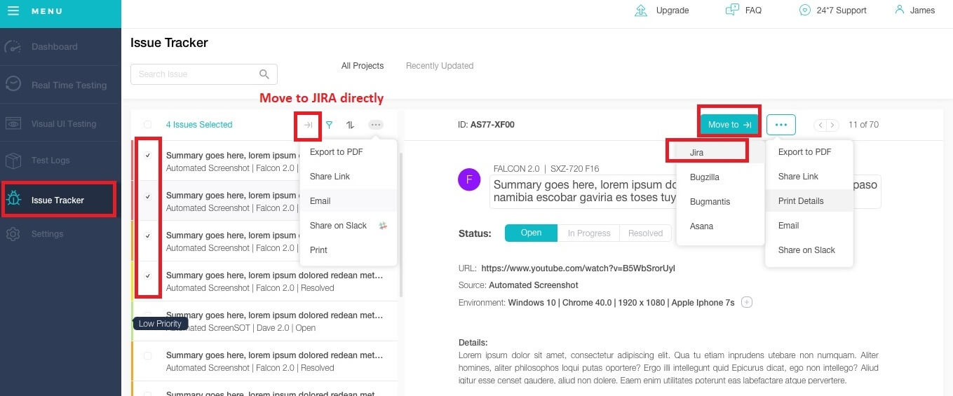 Move Your Cross Browser Testing Bugs to Jira