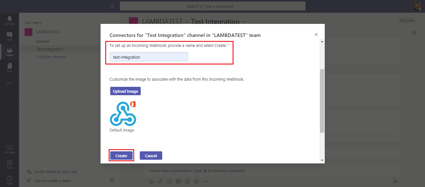 LambdaTest & Microsoft Teams Integration